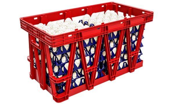 Kunststoffkiste rot Twinpack